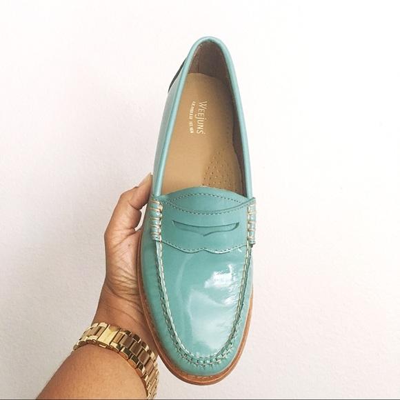 cbf0b88ec6b Weejuns Whitney Sky Blue Penny Loafers Women 7.5